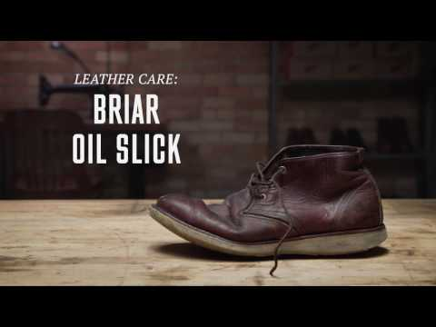 6c9eee411e9 Red Wing Heritage - Briar Oil Slick Leather Care - YouTube