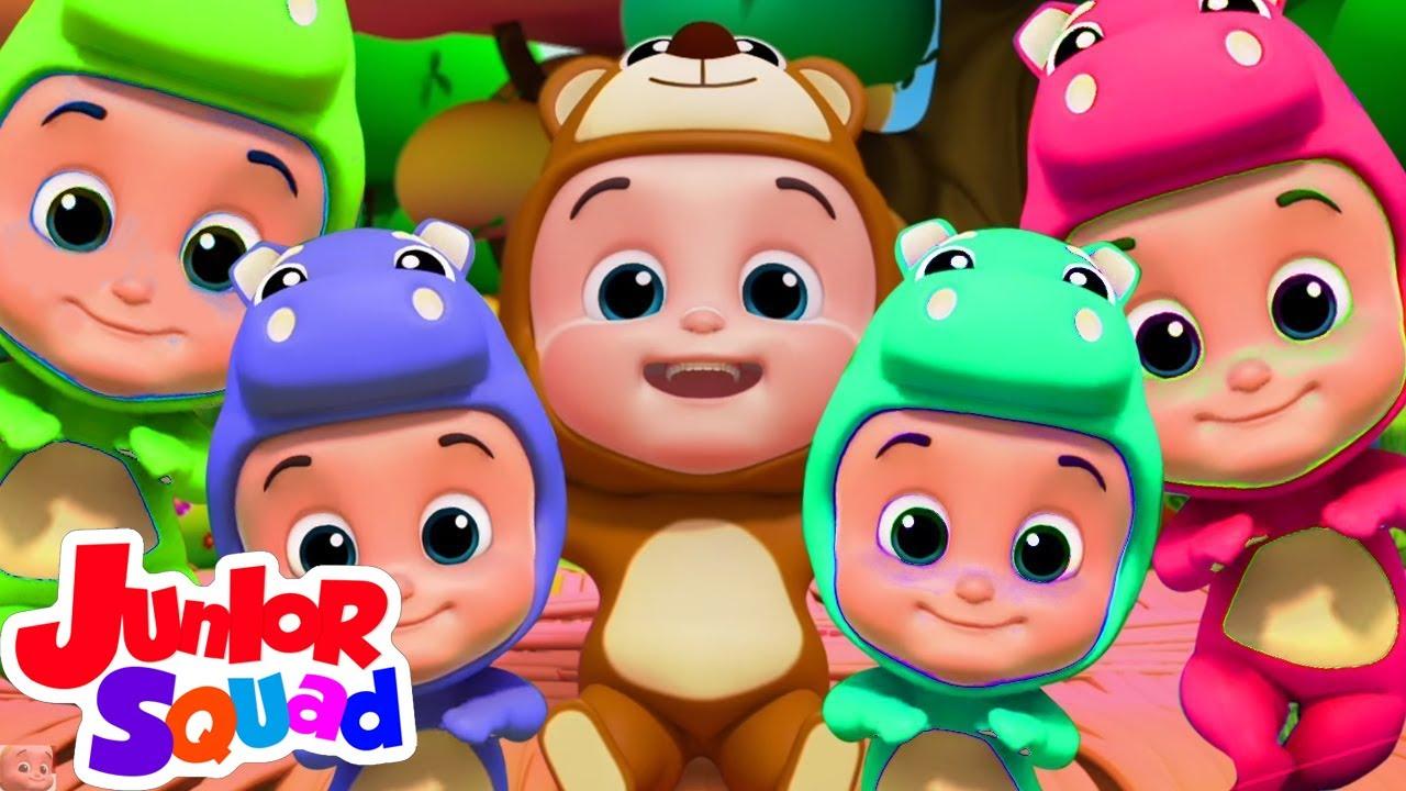 Lima bayi kecil | Kartun pendidikan anak | Junior Squad Indonesia | Bayi sajak | Prasekolah