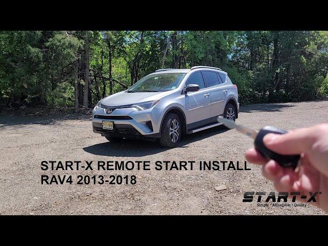 Start-X Rav4 Key Start 2013-2018  Remote Start Install