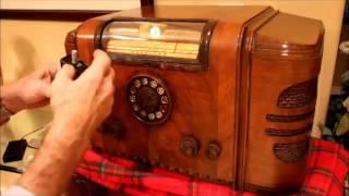 1937 Silvertone 4666 All-wave 10-tube Console Radio