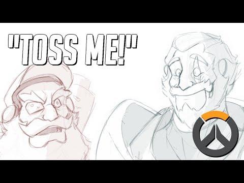 Reinhardt Tosses Torbjorn (Overwatch Comic Dub)