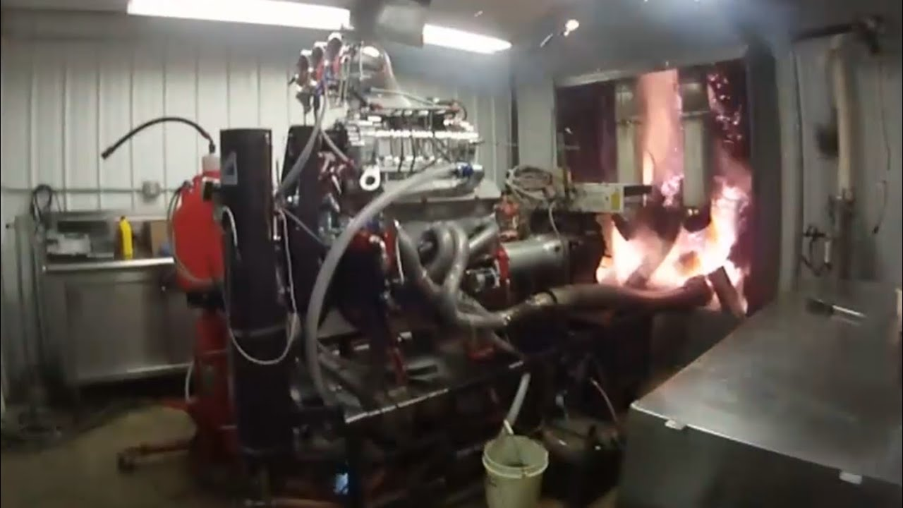 Diesel Engine Working >> Blown alcohol engine explosion - YouTube