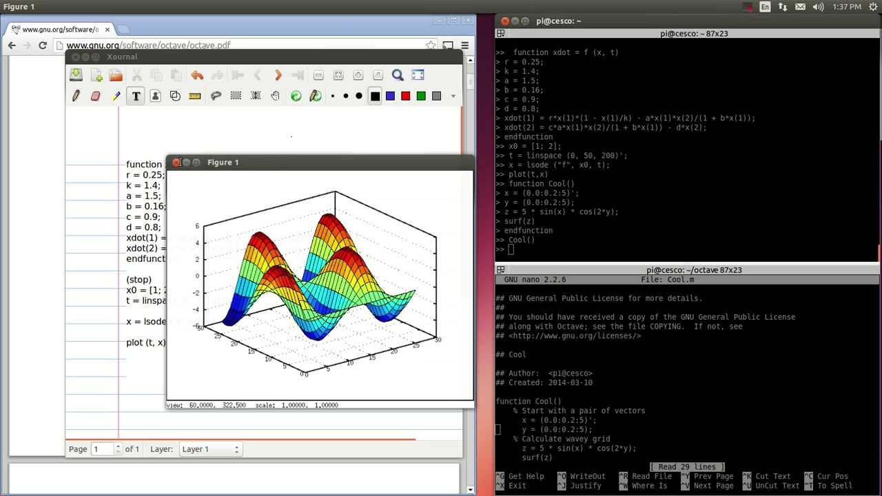 Running Matlab Computer Vision on Raspberry Pi with Linux Octave Tutorial-3  Saving Functions