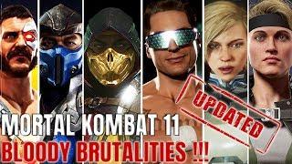 MORTAL KOMBAT 11 ALL BRUTALITIES UPDATED !!!