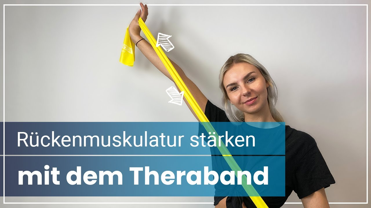 Rückentraining mit dem Theraband ➡️  Stärke mit 4 Übungen Deine Rückenmuskulatur!