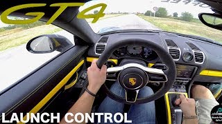 Porsche Cayman GT4 - EPIC SOUND [POV DRIVE] with FABSPEED Straight Pipe Exhaust