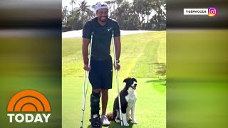 Tiger Woods Shares 1st Photo On Golf Course Since Car Accident | TODAY