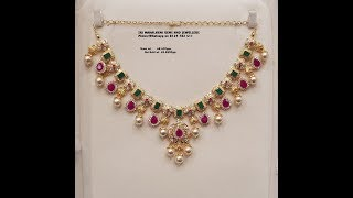 Latest Designer Gold Best Ruby and Emerald Necklace Designs