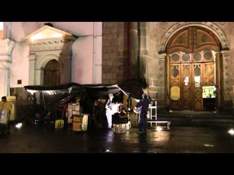 Santo Domingo Church in Santo Domingo Plaza, Quito, Ecuador