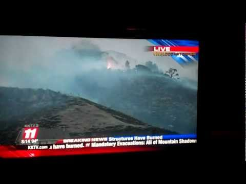 More Houses On Fire In Colorado Springs Due To Day 4 Waldo Canyon Fire - KKTV
