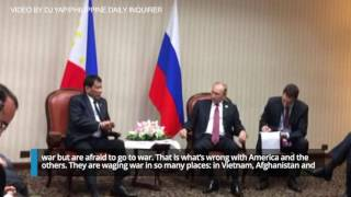 Duterte talks to Putin about distrust with US, hypocrisy of the West