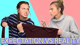 Expectation vs Reality | Sisters Sharing Clothes!! (Davis Sisters)