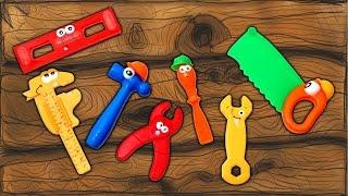 Apprendre le noms des outils pour les enfants - Finger Family Tools Nursery Rhymes