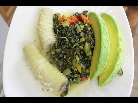 How To Make Jamaican Callaloo with Banana and Avocado