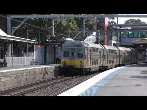 (4K) Sydney Marrickville Station - Suburban Trains and Freight Trip Trains