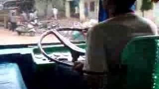 i m getting better -- bus driving in Kanakapura