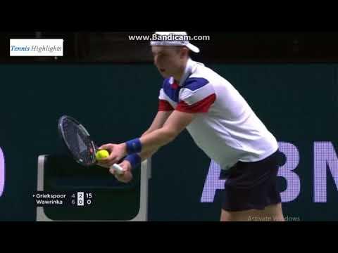 2018 Rotterdam Open - Griekspoor 2 - 1 Wawrinka
