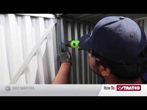 HowTo Install a Handi Saver Shed - Stratco Hinged Door  Assembly