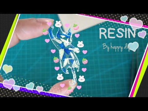 พวงกุญแจเรซิ่นรูปแมว กับดอกไม้แห้ง/UV Resin diy🐱dried flower 🌼🌷🌸🥀