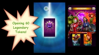 Marvel Puzzle Quest - Opening 60 Legendary Tokens
