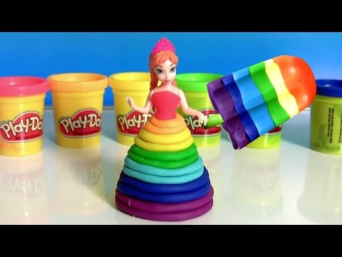 Thumbnail: Learn Colors of Rainbow with Bathtub Fingerpaint and Play Doh Scoops 'n Treats Rainbow Popsicles