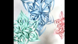 Paper craft art -  Kirigami tutorial (snowflakes, rose, heart..)