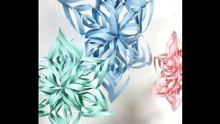 Paper craft art -  Kirigami tutorial (snowflakes, rose, heart..)