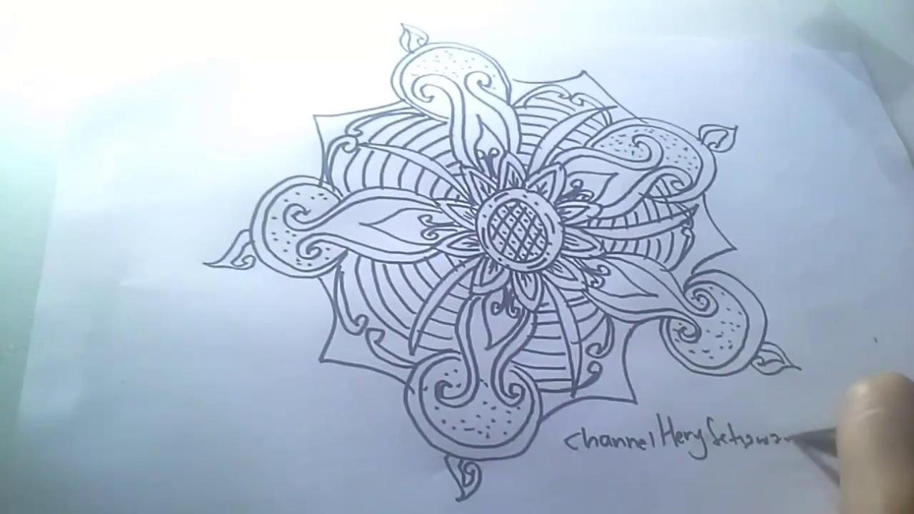 Gambar Sketsa Batik Mudah Sobsketsa