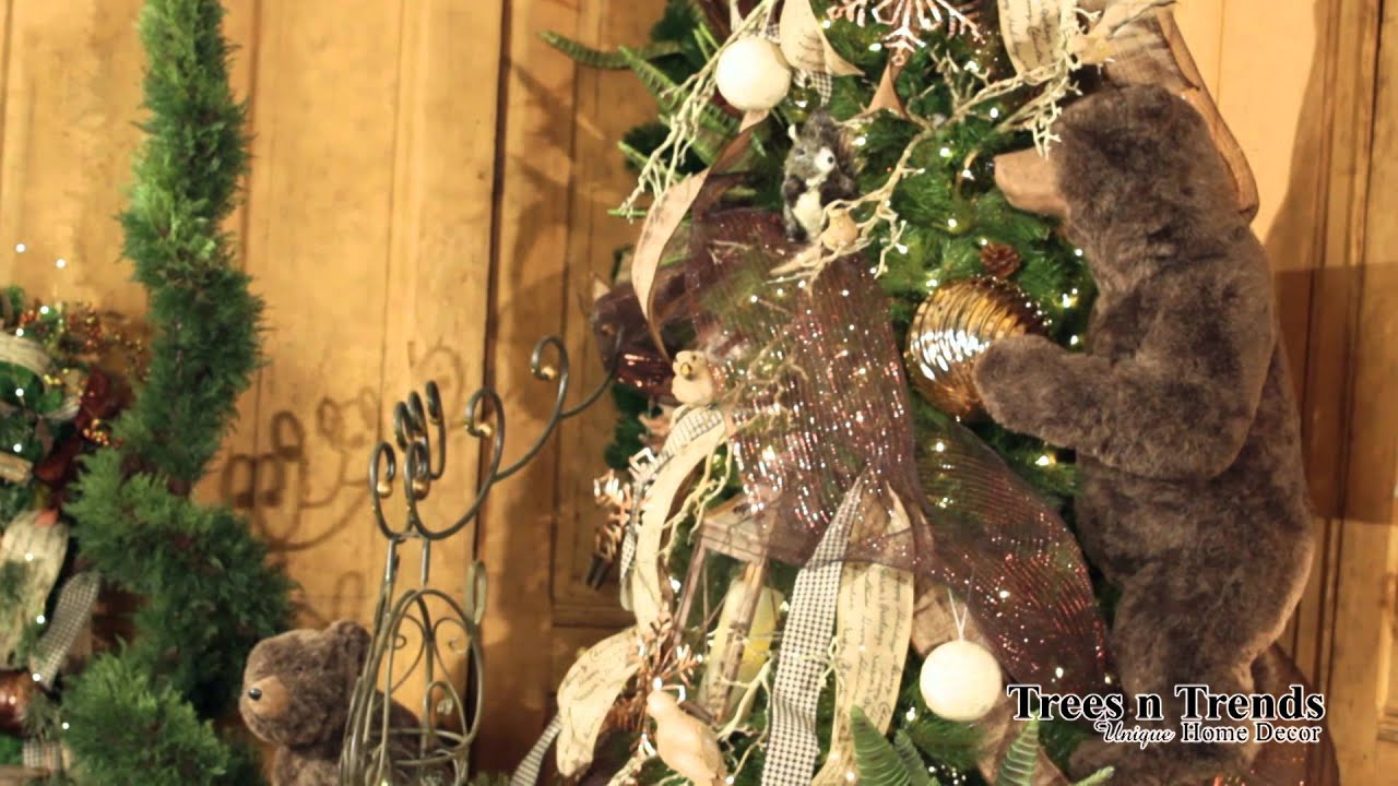 Christmas tree 2014 decorating trends -  Christmas Lodge Christmas Tree 2014 Trees N Trends