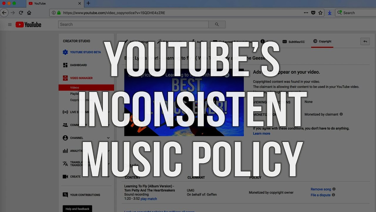 Youtube S Inconsistent Music Policies How I Use Copyrighted Music In My Videos Youtube