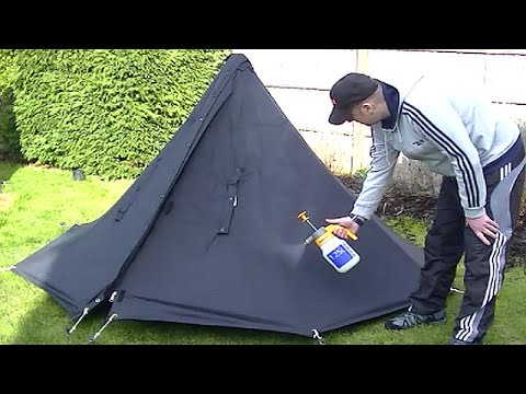 How I Waterproofed my Polish Lavvu Poncho Tent & How I Waterproofed my Polish Lavvu Poncho Tent - YouTube
