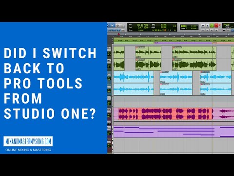 Did I Switch Back To Pro Tools From Studio One?
