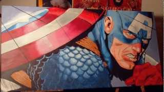 Roberts Artwork: Captain America - Pop Art (making-of)