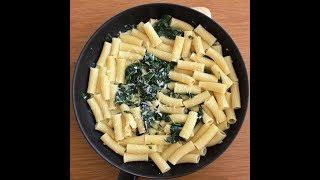 макароны со шпинатом и сливками. Рецепт от итальянца Франко