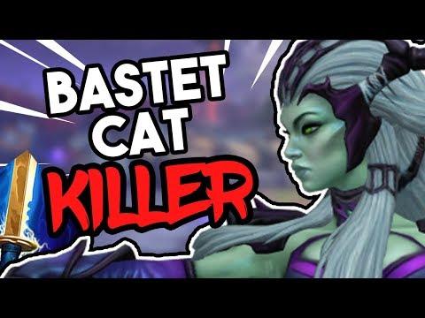 Easiest Way To Kill Bastet Cats! SMITE Arachne Duel Golden Blade Gameplay