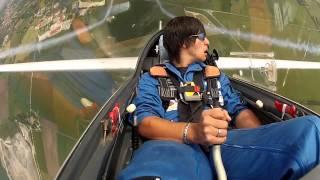 Пилотаж Лука Бертоссьо на планере Swift S-1