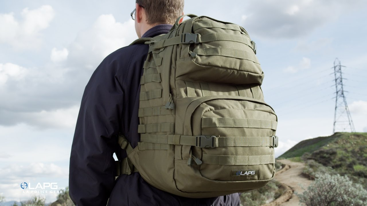 LA Police Gear - 3 Day Backpack 2.0 - YouTube d9dad264c0d