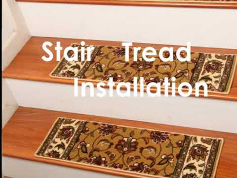 Carpet stair treads installation instructions