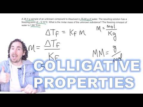 Determining Molar Mass Of Unknown Using Freezing Point Depression (Colligative Properties)