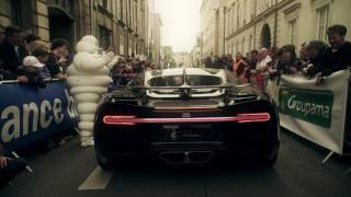 The Bugatti Chiron at the drivers parade of the 24h race of Le Mans
