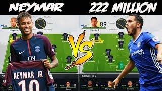 PSG NEYMAR VS 222 MILLION SPENT ELSEWHERE? 🤔 FIFA 17 Experiment
