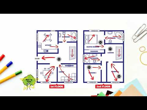 on 2 story 4 bedroom home fire escape plan
