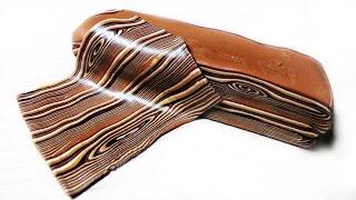 Polymer Clay Tutorial - Faux Wood - Имитация дерева