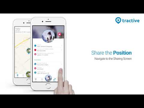 How to share your Tractive GPS Tracker location with family and friends