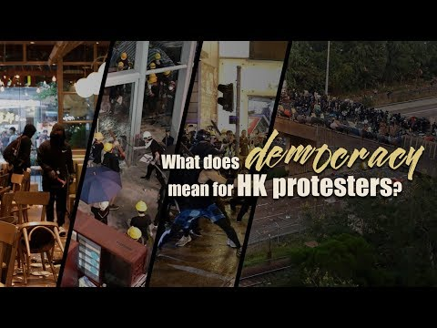 What does democracy mean for HK protesters?