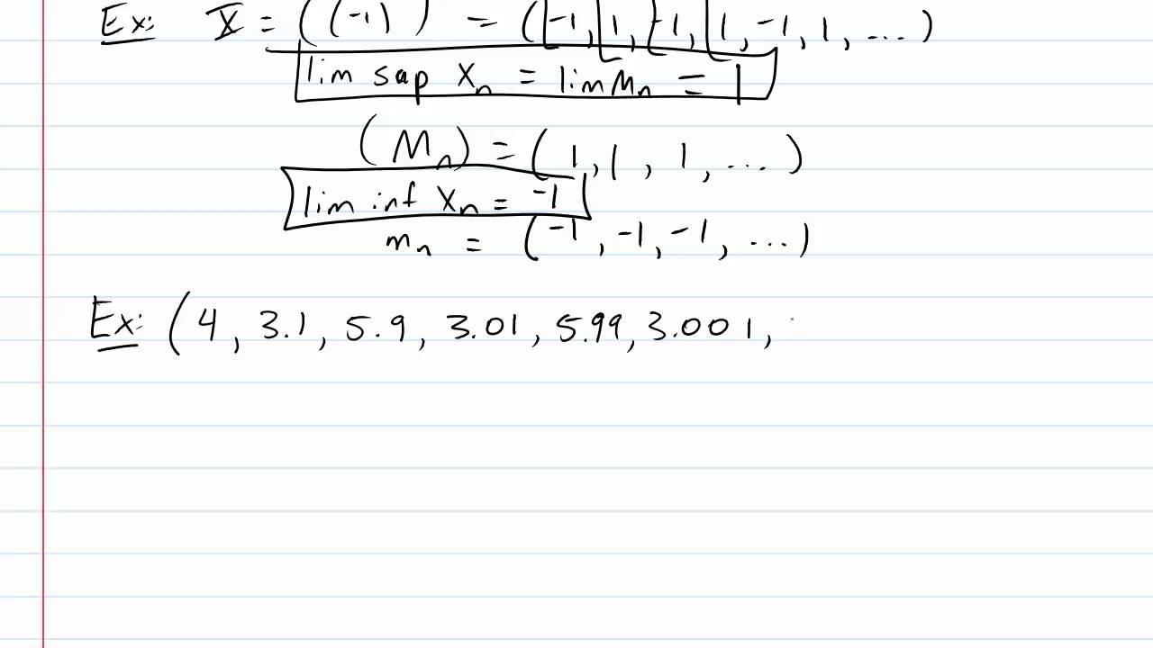 limit superior examples