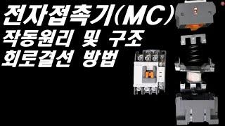 전자접촉기(MC) 결선방법 ,전자접촉기 동작원리, 전자…