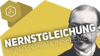 Nernstgleichung und Konzentrationselemente - Abitur