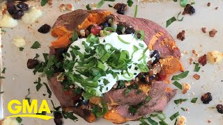 Try this doctor's go-to work from home lunch, 'Loaded Sweet Potatoes'
