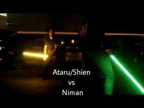 JTE Jedi - Ataru/Shien vs Niman - Makoto lightsabers - YouTube
